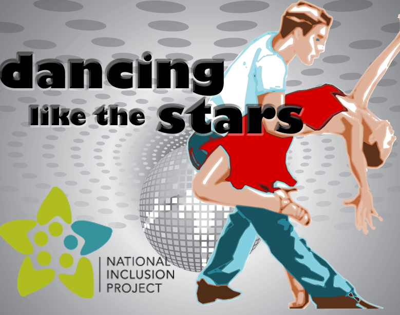 Dancing like the Stars title, couple dancing, NIP logo