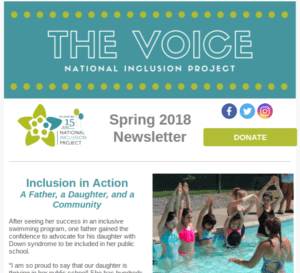 screenshot of the voice e-newsletter